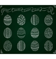 Chalk doodle Easter set with eggs vector image vector image