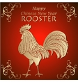 Chinece New Year congratulations card with Rooster vector image vector image