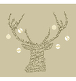 Christmas text shape reindeer bauble composition vector image vector image