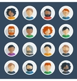 Collection of 25 user icons vector image vector image