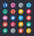 computer simple color icons vector image