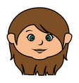 cute little girl head character vector image