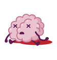 dead brain funny human nervous system organ vector image