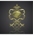 decorative shiny banner logo vector image vector image
