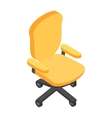 desk chair isometric 3d icon