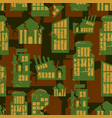 destroyed buildings seamless military pattern vector image