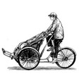 drawing tricycle in vietnam hoi vector image vector image