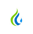 droplet bio ecology water logo vector image vector image