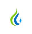 droplet bio ecology water logo vector image
