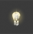 electric light bulb 3d vector image vector image
