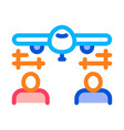 engineering plane icon outline vector image vector image