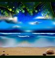 evening landscape vector image vector image