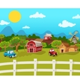 Farm Cartoon Background vector image
