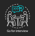 go for interview concept chalk icon job vector image vector image