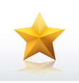 Gold five-pointed star vector image vector image