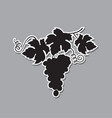 grapes bunches silhouette vector image vector image