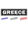 grunge greece textured rectangle watermarks vector image vector image