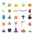 halloween flat icons set vector image vector image