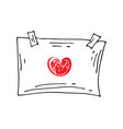 hand drawn doodle frame vector image vector image