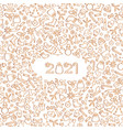 happy new year 2021 snow winter holiday white vector image vector image