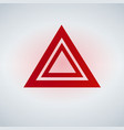 hazard warning lights flashes button in car vector image