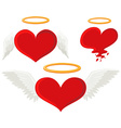 Heart with angel wings vector image