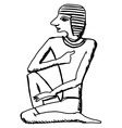 hieroglyph of ancient Egypt vector image vector image