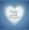 hugs and kisses vector image vector image