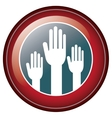 Isolated hand inside seal stamp of vote design vector image vector image