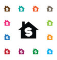 isolated sell icon house element can be vector image vector image