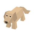 isometric labrador retriever vector image