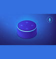 isometric voice controlled smart speaker vector image vector image