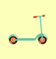 kick scooter isolated on beige vector image
