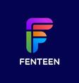 letter f logo design template vector image vector image