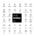 line icons set investment vector image vector image
