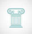 Logo marble columns vector image vector image