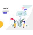 mailbox concept modern flat design concept web vector image