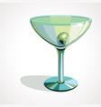 martini glasses with olives vector image