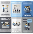 Meeting Poster Set vector image vector image