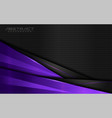 modern dark background and purple lines vector image vector image