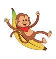 monkey cartoon icon image vector image vector image