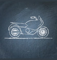 motorcycle sketch on chalkboard vector image