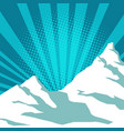 pop art snow mountain vector image