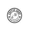 pouring coffee to glass vintage coffee logo vector image