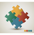 puzzle solution background vector image vector image