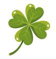 quatrefoil cartoon icon clover leaf with four vector image