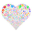 query fireworks heart vector image vector image