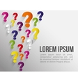 Question and solutions icons vector image vector image