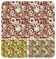seamless flowers pattern set of vector image vector image
