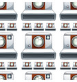 seamless pattern tile cartoon with camera vector image